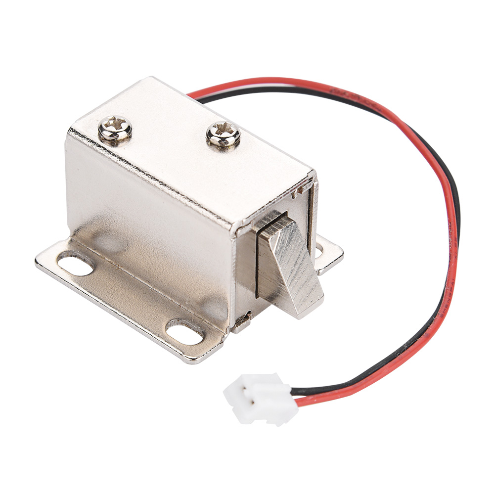 Universal Solenoid Electromagnetic Lock Safety Upturn Electric Lock Access Control For Door Cabinet Drawer Home Security