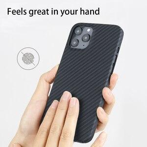 Image 3 - 0.7ミリメートル超薄型アラミド繊維ケースiphone 12プロマックス12Pro炭素繊維iphone 12ミニ11 xs最大xr 11Proシェル
