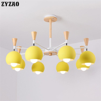 Macaroon Colorful Simple Family Pendant Lights Hotel Bedroom Restaurant Dining Room Hanglamp Nordic Modern Iron Light Fixtures