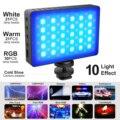 72 Вт/лампа бисер, небольшой 30В RGB светодиодный видео светильник с 3000 мА/ч, Перезаряжаемые Батарея для фотографии светильник ing 10 светильник э...
