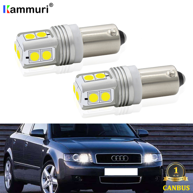 2Pcs Xenon White Error Free BAX9S H6W LED Bulbs For <font><b>AUDI</b></font> <font><b>A4</b></font> S4 <font><b>B5</b></font> B6 8E A8 D2 TT 8J 8N LED Parking light (with xenon headlights) image