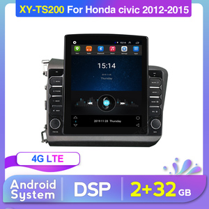 2GB+32GB Car Stereo for Honda Civic 2012-2015 Android Multimedia System GPS Navigation Player Deckless Radio Headunit Wifi FM