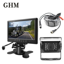GHM 7tft Lcd Car Monitor Car Rear View Monitor Car Display Hd Display Wired Reverse Camera Parking System For Truck With 1 Len цена