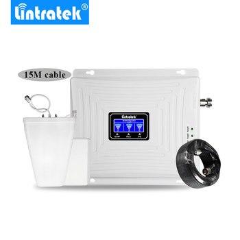 Lintratek lcd 디스플레이 2g 3g 4g 트라이 밴드 신호 리피터 gsm 900 1800 3g umts 2100 4g lte 1800 휴대 전화 신호 부스터 amplifi.