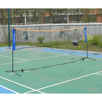 Good Quality Badminton Net Rack Professional Portable Folding Indoor Outdoor Standard Training Badminton Stand With Carry Bag