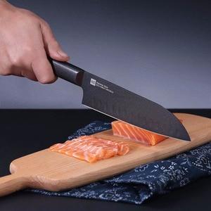 Image 3 - オリジナル huohou クール黒キッチンない粘着性ナイフ 2 個ステンレス鋼カッターセット