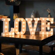 Sign Party-Decoration Lighting-Design Luminous-Letter-Lights Led-Alphanumeric Plastic