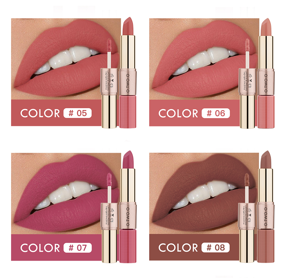 O.TWO.O Lipstick Colors from 05 - 08