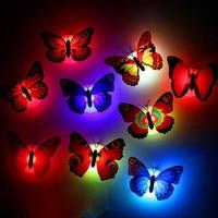 Pegatinas de mariposa de colores para pared, lámpara LED de noche para habitación, dormitorio, puerta, ventana, Festival, boda, decoración de jardín, 20-5 Uds.