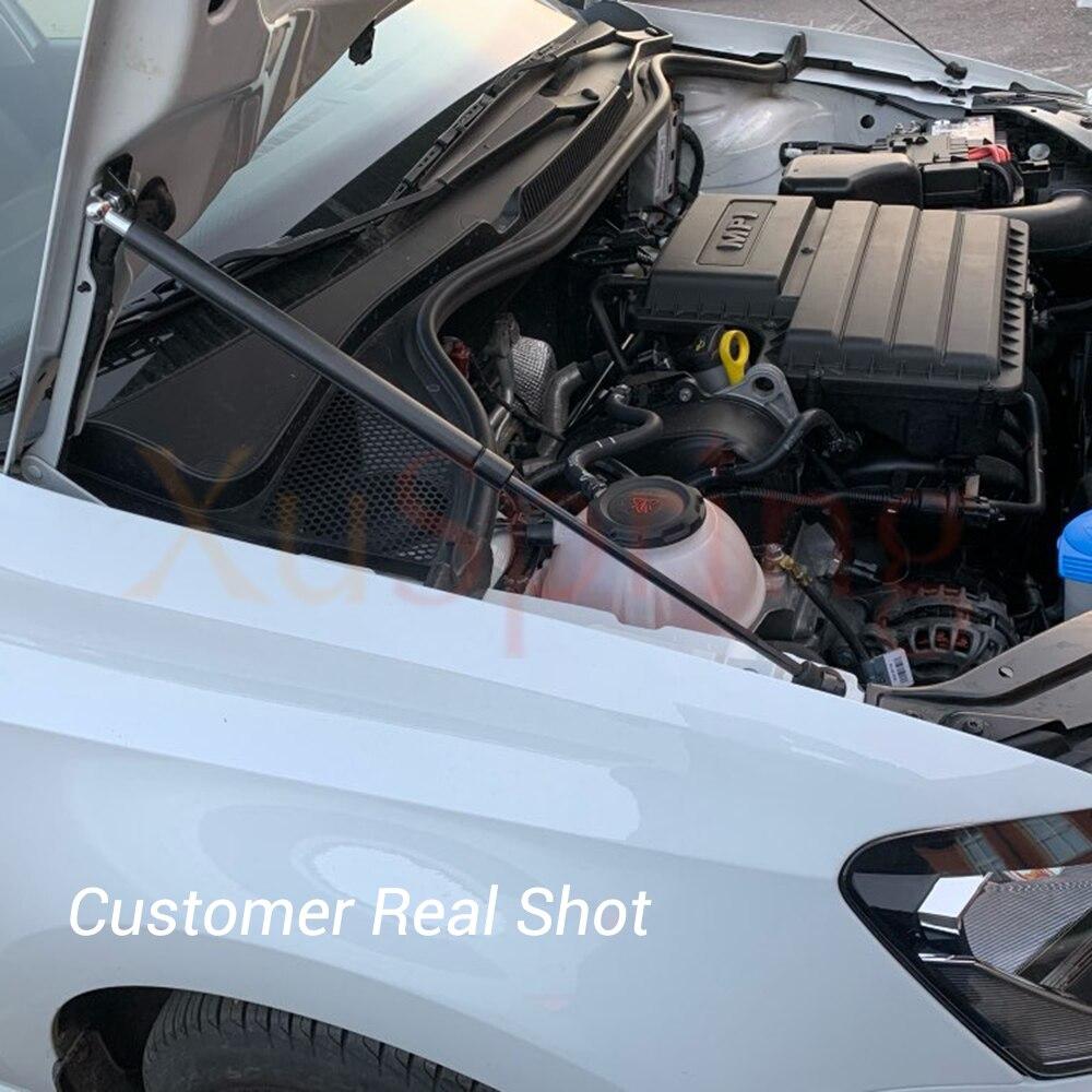 A Support de Barre de Jambe de Force de Voiture for VW Polo 2020 AW MK6 2019 Refit Bonnet Capot Ressort /à gaz Shock Lift Strut Barres dappui hydraulique Rod Car-Style V/érins /à gaz de Capot N