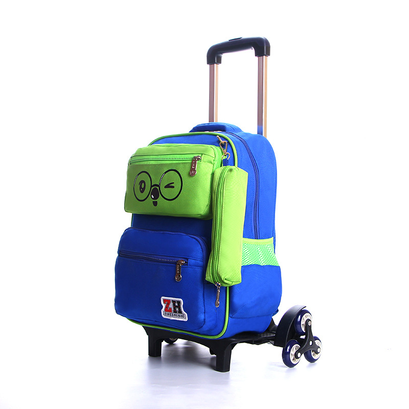 3PCS/SET new kids climb stairs luggage school bag on wheels students knapsack suitcase 5-10 years child Lovely travel backpack