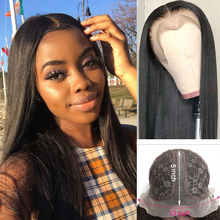 28 Inch Straight Human Hair Lace Wig Transparent Lace Wigs 150 Density T Part Long Remy Brazilian Bone Straight Human Hair Wigs