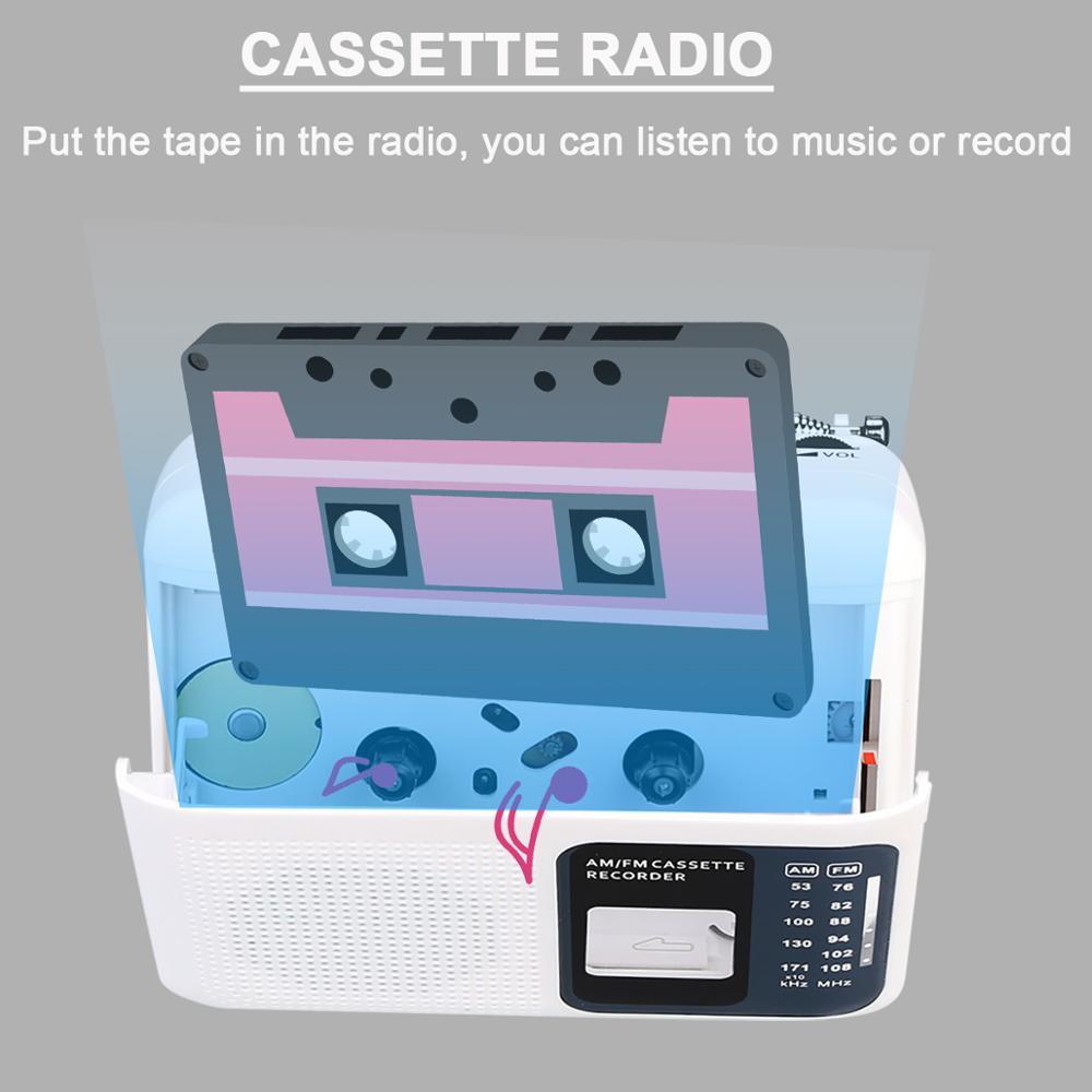 Retekess TR606 2 Band FM/AM портативное радио с воспроизведением кассеты Диктофон поддержка Встроенный/внешний микрофон Запись
