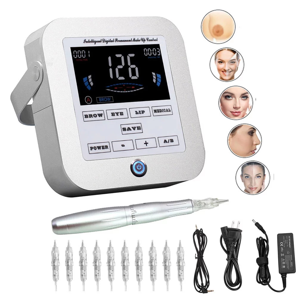 Ротационная машинка для перманентного макияжа BIOMASER, тату-наборы для бровей, профессиональная ручка, подводка для бровей, набор для татуажа ...
