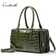 купить Genuine Leather Women Bag Handbag Femal Large Capacity Shoulder Bag Crossbody Bag Tote Bag дешево