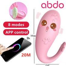 Abdo APP controle Remoto Monstro Silicone Pub Gspot Vibrador Do Bluetooth Sem Fio Massagem Freqüência 8 Jogo Adulto Brinquedos Sexuais para Mulheres