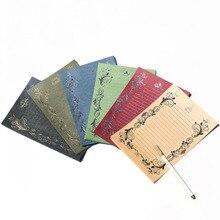 Элегантные винтажные канцелярские принадлежности в стиле «Ретро» набор бумажный конверт любовное письмо bronzing пригласительный конверт креативный Бланк-8 листов