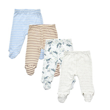 4 pieces/lot 0-18 Months Newborn Baby Pants Spring Autumn Babies Boy Footied Infant Girls Trousers Unisex Cute Twins Clothing