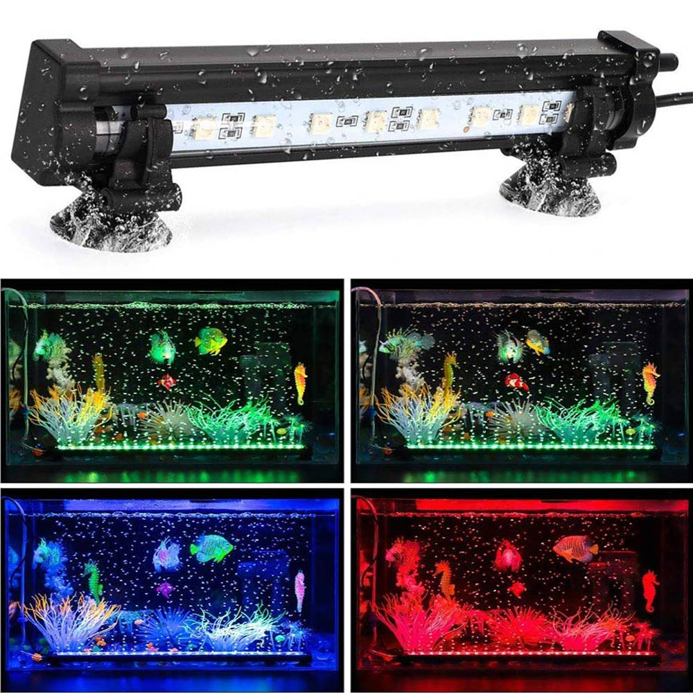 EU US Plug Aquarium Light Fish Tank LED Light Submersible Light Aquatic Air Bubble Oxygenation Lamp 16cm 23cm 30cm 45cm 52cm