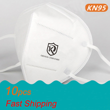 10pcs KN95 Masks 5 Layers N95 Face Masks Mouth-muffle Protective Anti-Pullotion Masks High Quality N90 Nonwovens Masks KN95-1