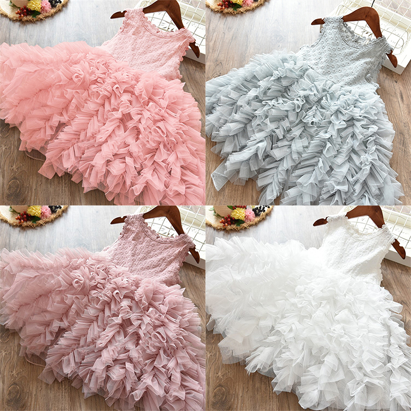 Princess Girls Dress Girls Clothes Children Clothing Summer Party tutu Kids Dresses