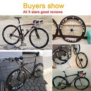 Image 5 - Ruote in carbonio Elite 700c per bici da strada 3k Twill UCI cerchio in carbonio di qualità Tubeless Ready Sapim blocco sicuro nipplo set di ruote per ciclismo su strada