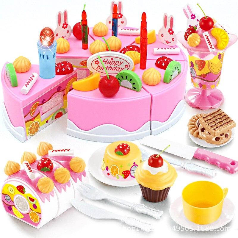 Fabulous Beibigu Children Play House Birthday Cake 1 3 6 Year Old Girls Personalised Birthday Cards Vishlily Jamesorg