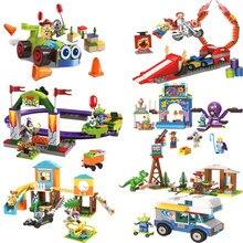 Buzz lightyear woody & rc jessie alienígena ducky bo peep modelo bloco de construção brinquedos 10766