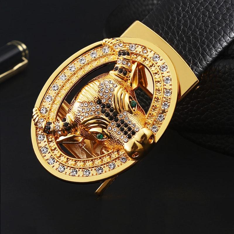 2021 New Style Male Fashion Belt Dollar Cow Rhinestone Buckle imitation leather Strap belt for man jeans|Men's Belts| - AliExpress
