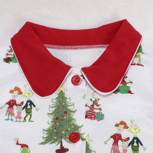 Image 5 - Baby Christmas pajamas Pattern T Shirts Childrens Sets Girls Dresses Pants Outerwear & Coats Family Matching Sleep clothes