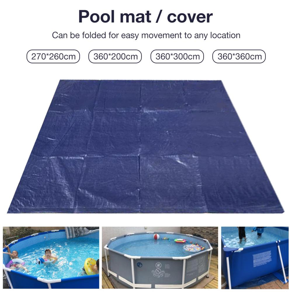 Swimming Pool Cover Ground Protective Mat Square Foldable Floor Cloth Plastic Pool Gasket For Inflatable Swimming Pool