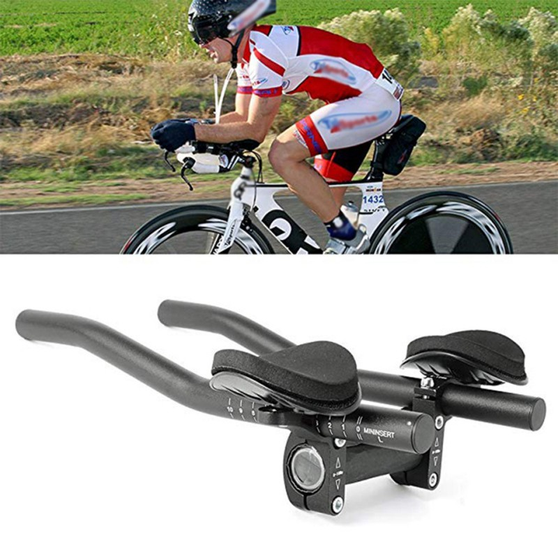 New Rest TT Handlebar Aero Bars For Triathlon Time Trial Tri Cycling Bike Rest Handlebar For Bicycle Bike Long Distance Riding