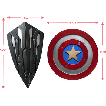 Captain America Role Play 1: 1 PU Shield Gift Cosplay Halloween Prop 44 Diameter Perfect Version Steve Rogers 2 style captain america shield steve rogers cosplay prop superhero shield pu props halloween party toy 2pcs set