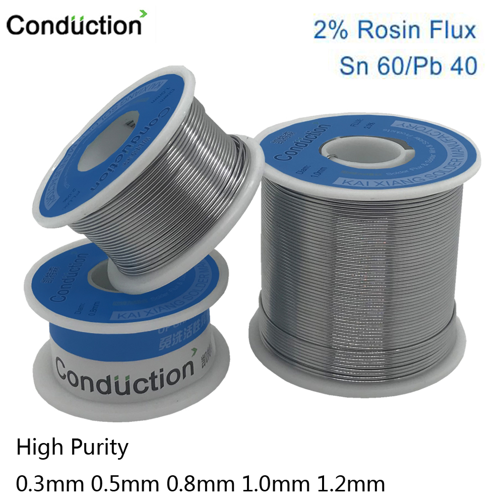 High Purity 0.3/0.6/0.8/1/1.2 63/37 FLUX 2.0% 45FT Tin Lead Tin Wire Melt Rosin Solder Soldering Wire Roll No-clean 100g 50g
