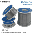 Высокой чистоты 0,3/0,6/0,8/1/1.2 63/37 поток 2.0% 45FT свинцово-оловянные оловянный припой расплавить канифоль припой проволока r & d нечистое 100 г 50 г