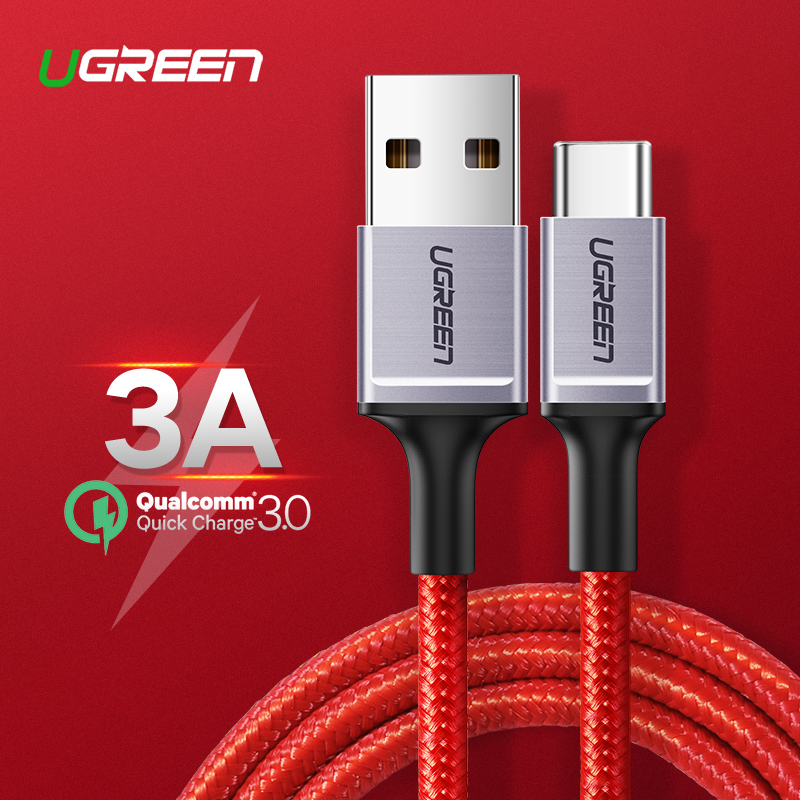 Ugreen USB Type C Cable for Samsung Galaxy S10 S9 Mobile Phone Cable Fast USB C Charge Data Cable for Xiaomi Mi8 Type C USB Cord Mobile Phone Cables    - AliExpress