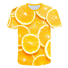Lemon fruit pattern 3D printed t shirt women 2019 summer top