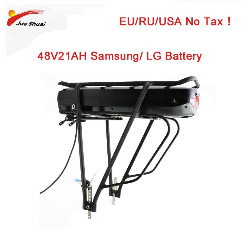 EU pas de taxe vélo électrique eBike 48V 52V 250 w-1000 w 48V 21AH batterie Rack arrière Bafang BBS01 BBS02 porte-bagages Double couche