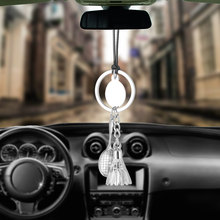 Car Pendant Badminton Shuttlecock Racket Ornaments Hanging Auto Interior Rear View Mirror Decoration Dangle Trim Accessory(China)