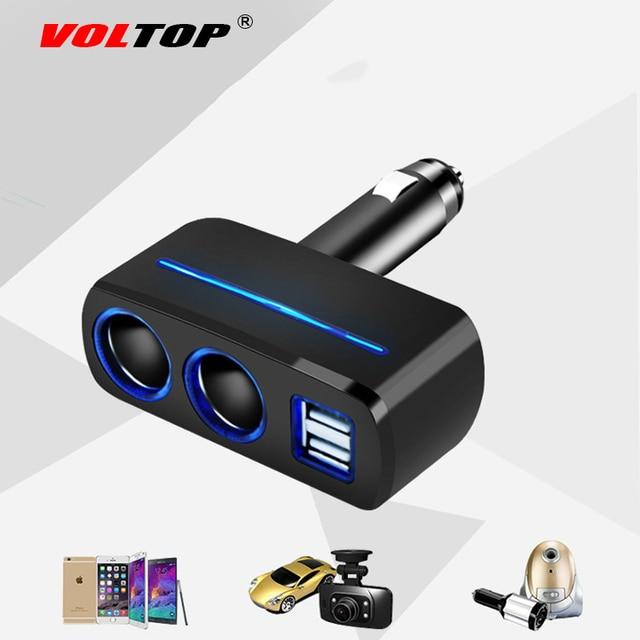 VOLTOP 1 Punto 2 Dual USB cargador de coche adornos de coche accesorios de carga de teléfono encendedor de cigarrillos