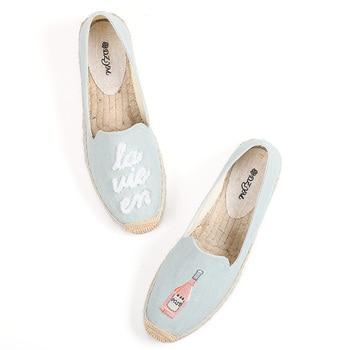 Zapatos De plataforma para Mujer, cuñas De cáñamo De Venta promocional, tela De algodón, punta redonda, Roma, Lolita, Soludos, Primavera/otoño, 2019