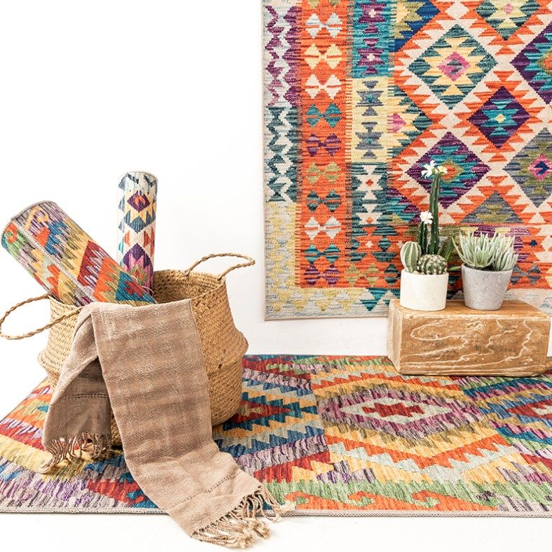 Persian Nordic Moroccan Ethnic Geometric Kilim Livingroom Carpets Simple Bedroom Living Room Carpet Bedside Blanket Study Mat