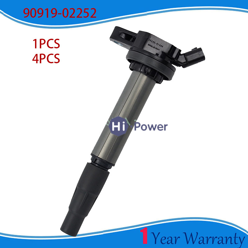 High quality 1/4PCS <font><b>90919</b></font>-<font><b>02252</b></font> 9091902252 Car Coils/Ignition Coil For Toyota Corolla Matrix Scion xD Lexus 1.8L <font><b>90919</b></font> <font><b>02252</b></font> image