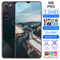M8 Pro Universal 5G Smartphones Android 10.0 12GB+512GB MTK-6899 10-Core Mobile Phones 7.0 inch HD+ 24+48MP Camera Cellphones