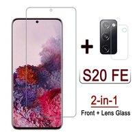 2 in 1 di Vetro Per Samsung S20 FE 5G 2020 Temperato di Vetro Della Macchina Fotografica Obiettivo Pellicola Protettiva Per Samsung S20 fan Edizione Protezione Dello Schermo