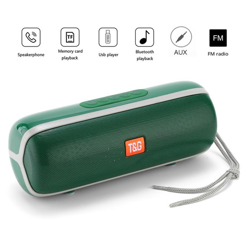 Altavoz portátil Bluetooth TG183, columna a prueba de agua IPX6, Subwoofer estéreo de 20W, Centro de música, BoomBox, compatible con TF FM