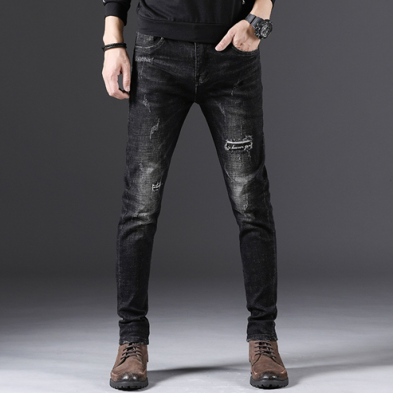 2019 Spring New Style Embroidery Pants Fashion Skinny Korean-style Jeans