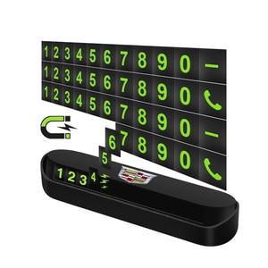 Image 3 - 1 adet araba geçici park kartı telefon numarası kart aksesuarları Cadillac SLS ATS SLR XLR Escalade CTS SRX BLS STS CT4 CT5 CT6