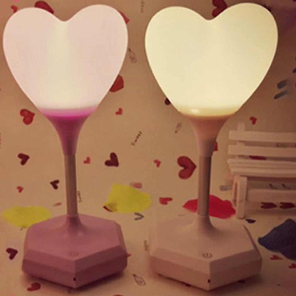 ICOCO Creative Love Night Light Lamp Night Light Environment USB Charge Sensor Light Touch Me Party Room Decor Gift Sale