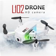 L102 Mini Foldable RC Drone WiFi FPV 480P/720P HD Camera Optical Flow Dual Cameras Smart Gesture Control Mode RC Quadcopter Toys